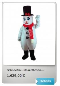Schneemanner-Kostüm-Maskottchen