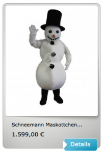 Schneemanner-Kostüme-Maskottchen