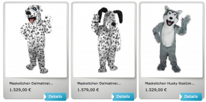 Dalmatiner-Kostüm-Lauffiguren