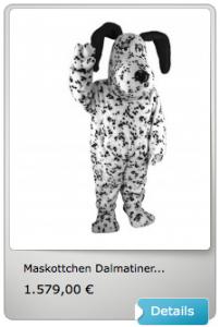 Dalmatiner-Kostüm-Maskottchen