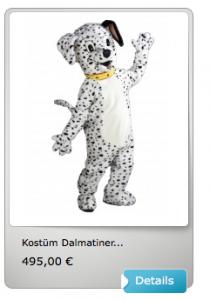 Dalmatiner-Maskottchen