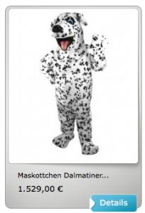 Dalmatiner-Maskottchen-Lauffigur