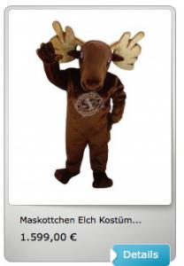 Elch-Kostüm-Lauffigur