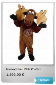 Elch-Kostüm-Lauffiguren
