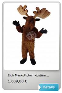 Elch-Kostüm-Lauffiguren-Maskottchen