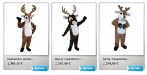 Elch-Kostüm-Maskottchen-Lauffiguren