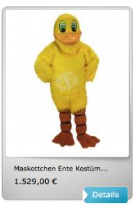 Enten-Kostüme-Lauffiguren