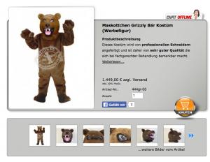 Grizzly-Bär-Kostüm
