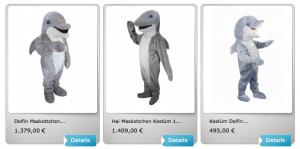 Hai-Lauffigur-Kostüm