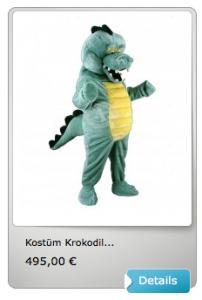 Krokodil-Maskottchen-Kostüm