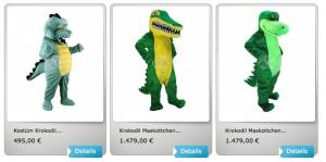 Krokodil-Maskottchen-Kostüme