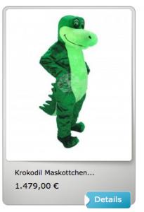 Krokodil-Maskottchen-Lauffiguren