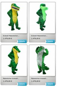Krokodile-Kostüm