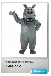 Nilpferd-Kostüm-Lauffigur