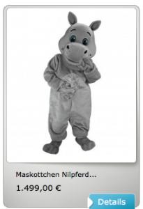 Nilpferd-Kostüm-Lauffiguren