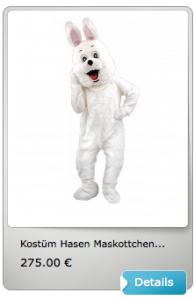 Oster-hasen-Maskottchen-Kostüm