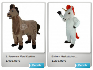 Pferde-Kostüme-Lauffigur