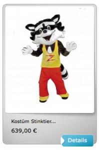 Stinktiere-Kostüme-Lauffigur
