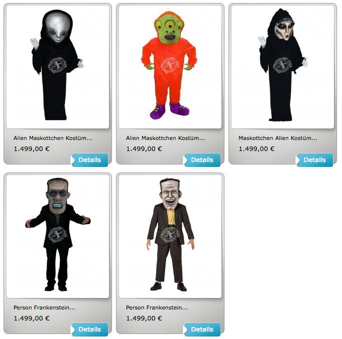 halloween kost me f r ihr maskottchen maskottchen. Black Bedroom Furniture Sets. Home Design Ideas