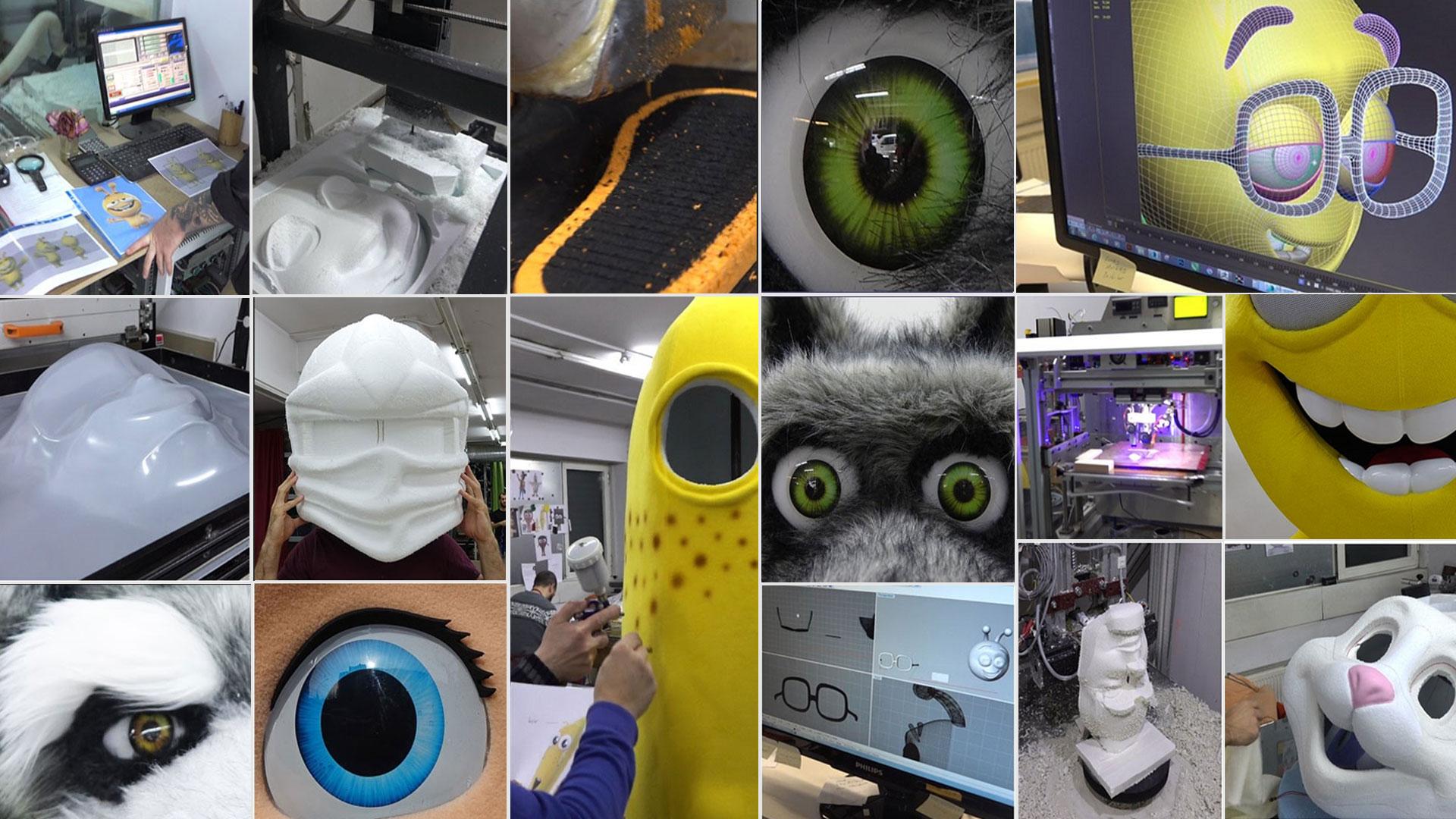 Herstellung Kostüme Maskottchen Promotion Lauffiguren
