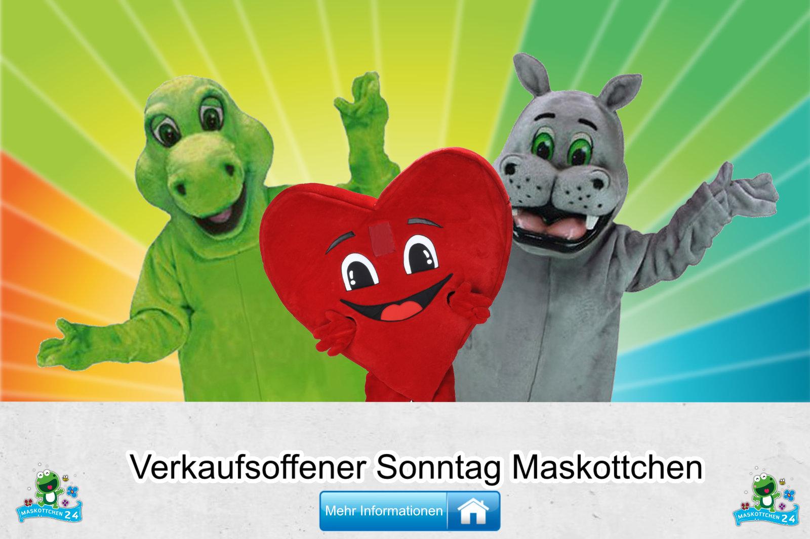 Verkausoffener Sonntag Kostüme Maskottchen Herstellung Firma günstig kaufen